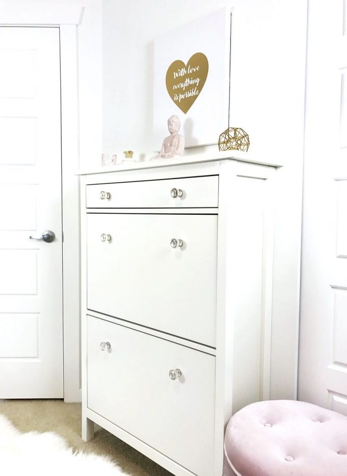 Repurposing the IKEA hemnes shoe cabinet for a small space