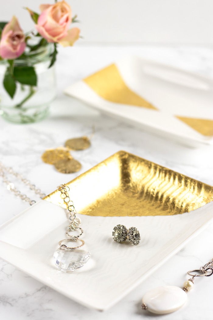 How to make gold leaf trinket trays