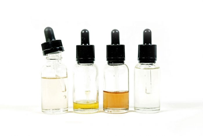 Bottles of polyunsaturated skincare oils