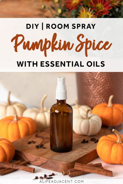 DIY pumpkin spice room spray with essential oils