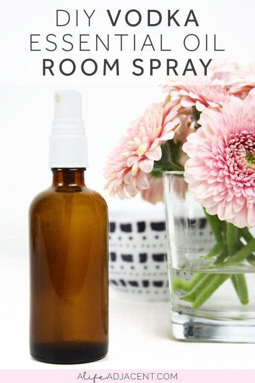 DIY vodka essential oil room spray without witch hazel