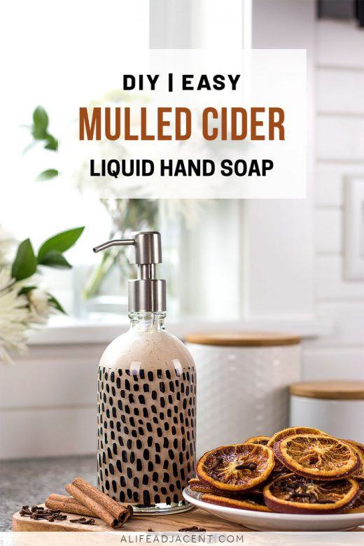 Mulled cider scented DIY liquid hand soap