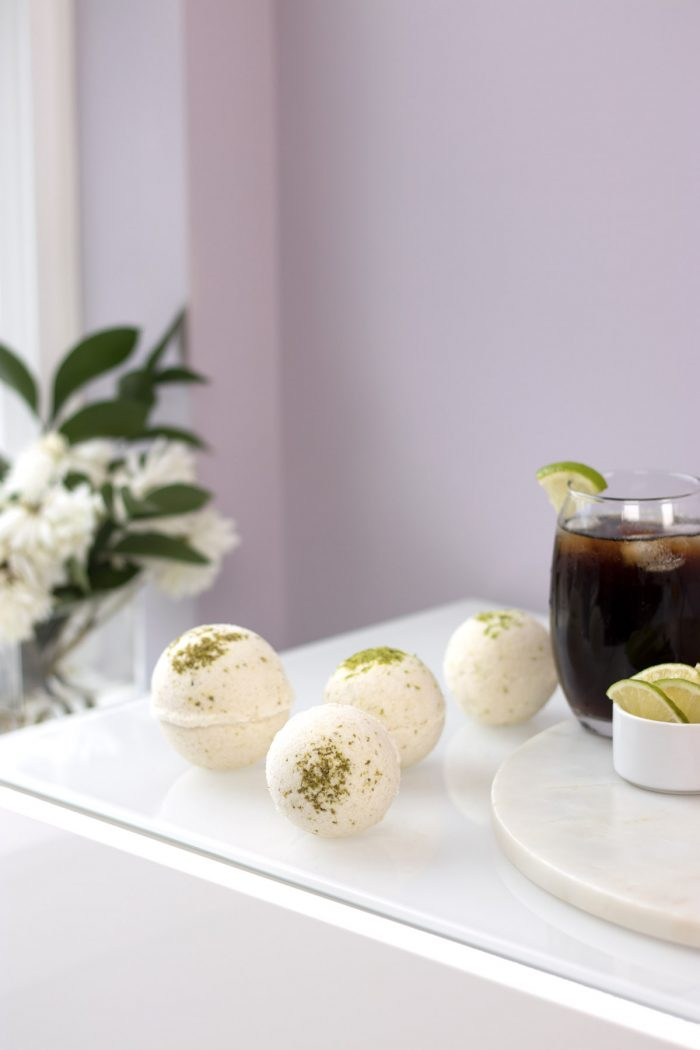 DIY cola bath bombs with essential oils