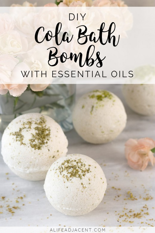 DIY cola bath bombs made with essential oils