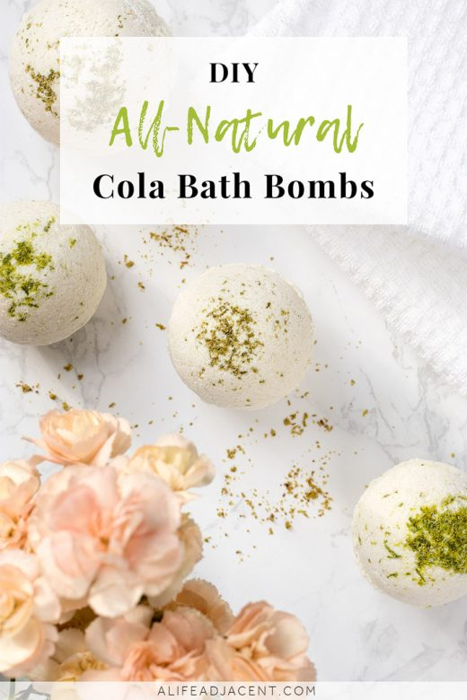 Homemade bath bombs that smell like cola
