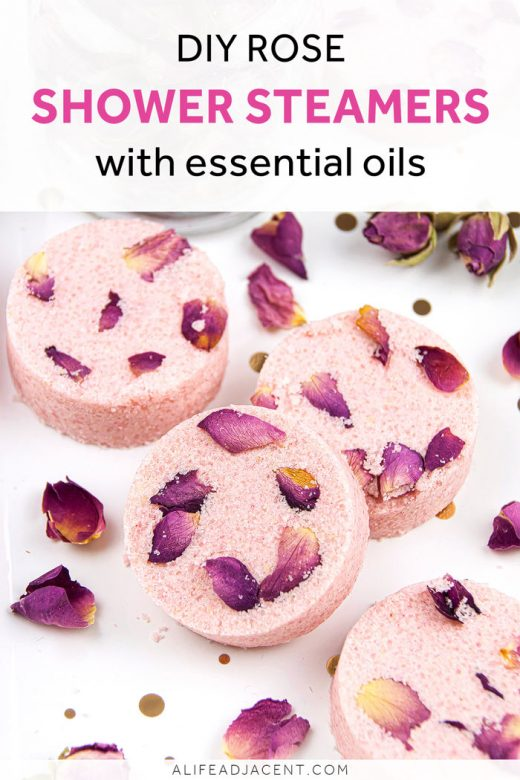 Rose shower steamers with essential oils