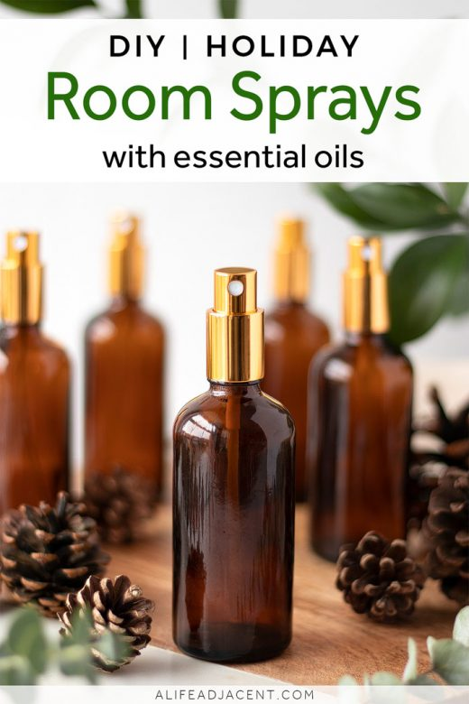 Holiday room sprays with essential oils