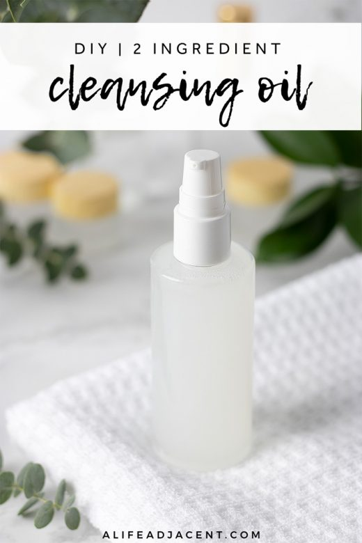 Homemade cleansing oil on white cloth