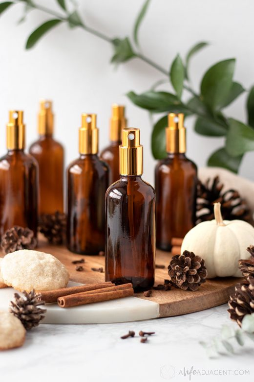 Homemade holiday room sprays
