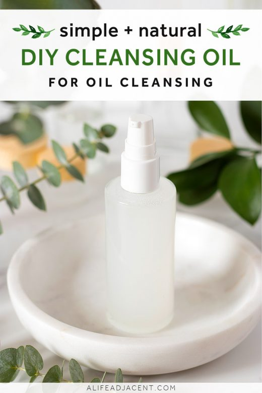 Simple DIY cleansing oil