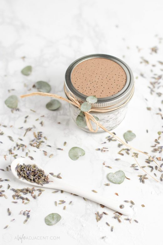 Air freshener jar with dried lavender