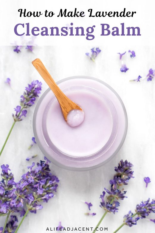 Homemade lavender cleansing balm