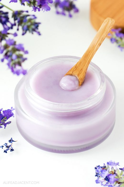 DIY lavender cleansing balm with lavender infused oil