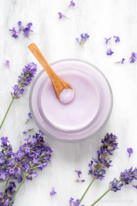 DIY oil cleansing balm with lavender