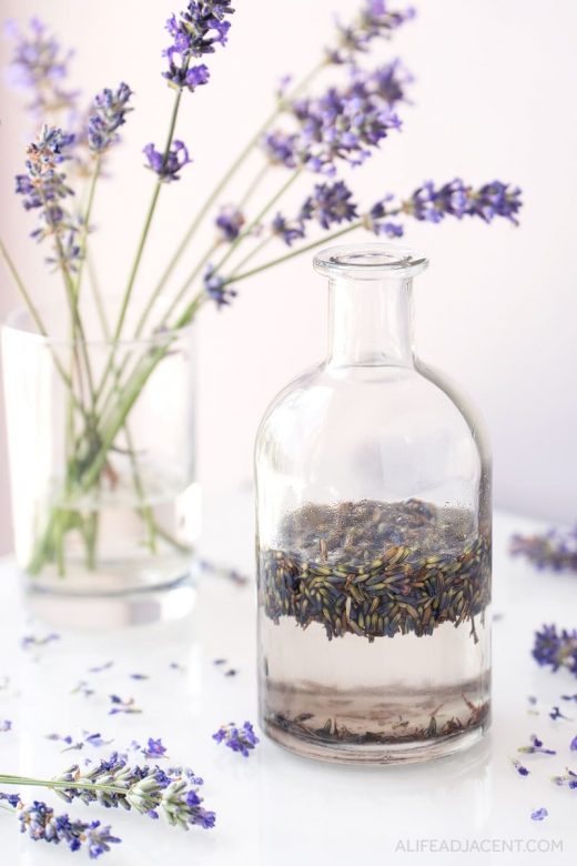 Lavender infused oil for cleansing balm
