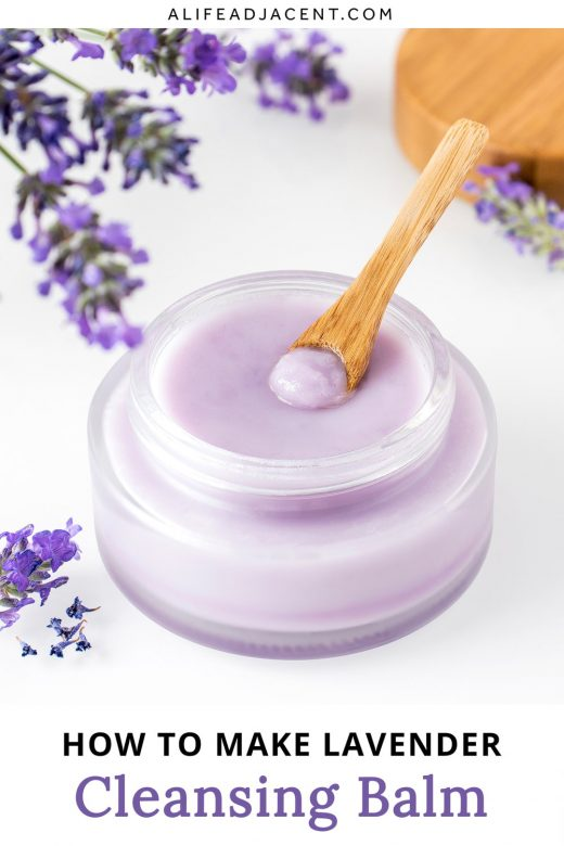 DIY oil cleansing balm with lavender infused oil